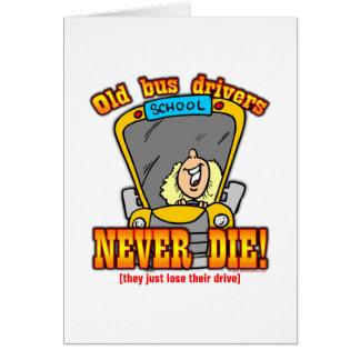 Condutores de autocarro cartão comemorativo