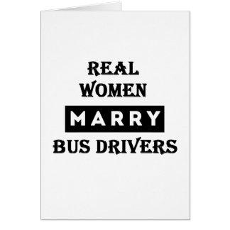 Condutores de autocarro do casado das mulheres cartão comemorativo