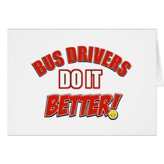 Condutores de autocarro melhora cartão comemorativo