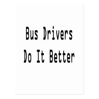 Condutores de autocarro melhora cartão postal