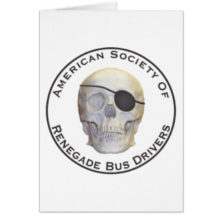 Condutores de autocarro renegados cartao