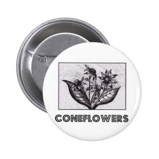 Coneflowers Bóton Redondo 5.08cm