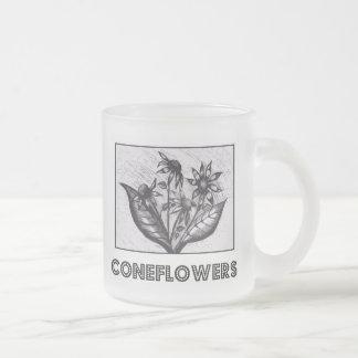 Coneflowers Caneca De Vidro Fosco