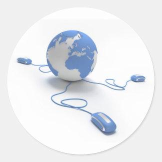 Conexão do mundo adesivo