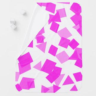 Confetes cor-de-rosa brilhantes no branco mantas para bebe