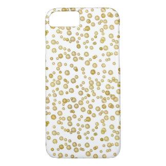 Confetes da aguarela do ouro capa iPhone 8/7