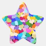 Confetes do coração do arco-íris adesivos em forma de estrelas