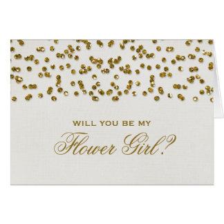 Confetes do olhar do brilho você será meu florista cartões