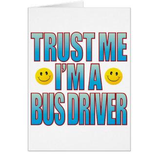Confie-me a vida B do condutor de autocarro Cartão Comemorativo