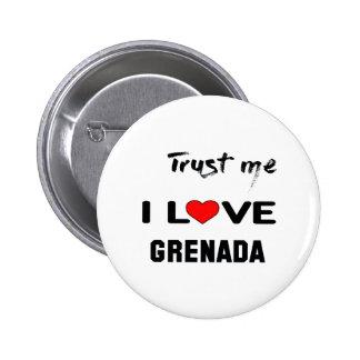 Confie-me amor Grenada. de I Bóton Redondo 5.08cm