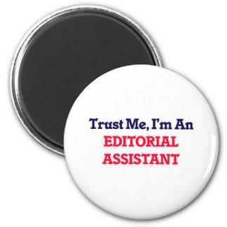 Confie-me, mim são um assistente editorial ímã redondo 5.08cm
