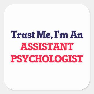 Confie-me, mim são um psicólogo assistente adesivo quadrado