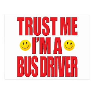 Confie-me vida do condutor de autocarro cartão postal