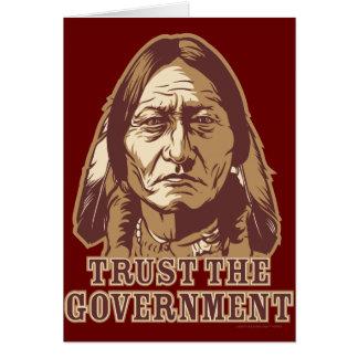 Confie o governo cartão comemorativo