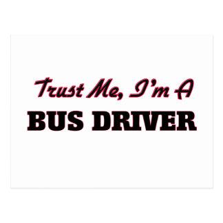 Confie que eu mim é um condutor de autocarro cartoes postais