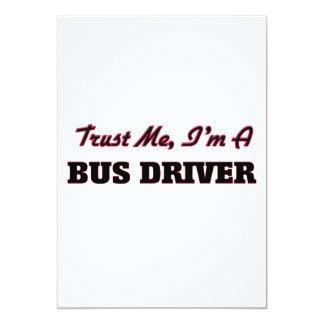 Confie que eu mim é um condutor de autocarro convite personalizados
