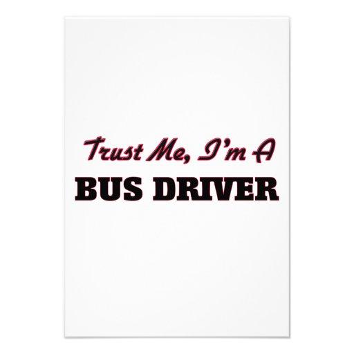 Confie que eu mim é um condutor de autocarro convite