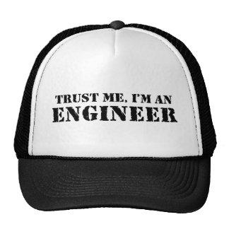 Confie que eu mim é um engenheiro boné