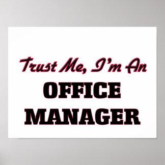 Confie que eu mim é um gestor de escritório posteres