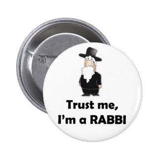 Confie que eu mim é um rabino - humor judaico engr pins