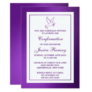 Confirmação metálica do comunhão santamente da convite 12.7 x 17.78cm