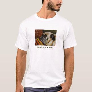 Confortavelmente como um Pug T-shirt