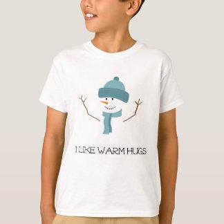 Congelado - eu gosto de abraços mornos t-shirt