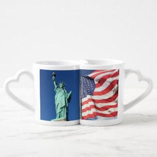 Conjunto De Caneca De Café Liberdade e bandeira