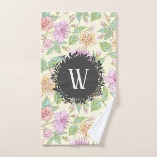 Conjunto De Toalhas Delicado doce flores coloridas do primavera com