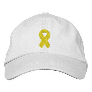 Consciência amarela da fita boné bordado