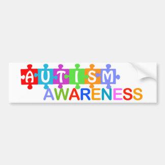 Consciência do autismo adesivo para carro