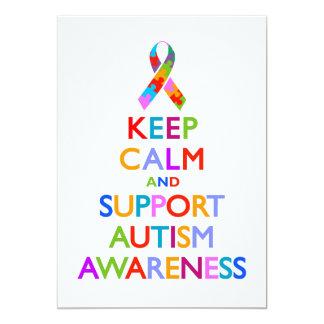 Consciência do autismo convite 12.7 x 17.78cm