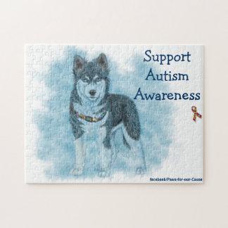 Consciência do autismo do apoio quebra-cabeça