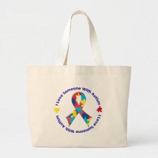 Consciência do autismo bolsas para compras