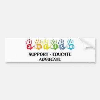 Consciência do autismo: O apoio educa o advogado Adesivo Para Carro
