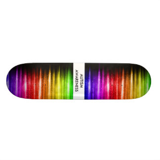 Consciência do autismo shape de skate 18,1cm