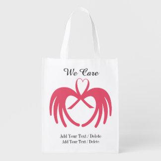 Consciência do cancer - mantimento, presente, saco sacolas ecológicas para supermercado