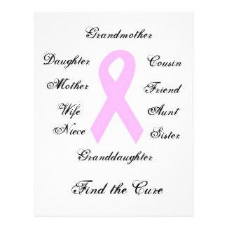 Consciência do cancro da mama flyer 21.59 x 27.94cm