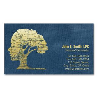 Conselheiro pessoal do psicólogo azul luxuoso