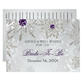 conselho de prata do chá de panela e cartão dos