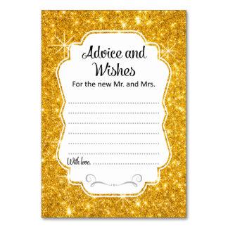 Conselho do casamento da faísca do ouro & vertical