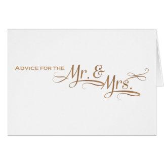 Conselho do casamento para o Sr. e a Sra. pia Cartão Comemorativo