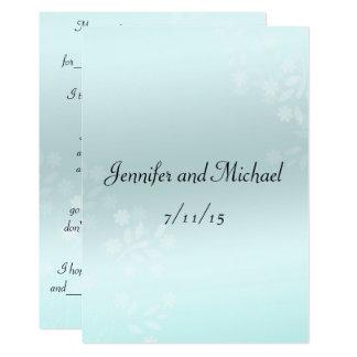 Conselho elegante do casamento, cartão do convite 12.7 x 17.78cm