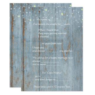 Conselho engraçado do casamento, madeira, costume convite 13.97 x 19.05cm