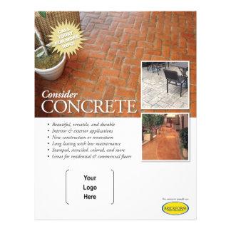 Considere o insecto concreto para contratantes de flyer 21.59 x 27.94cm
