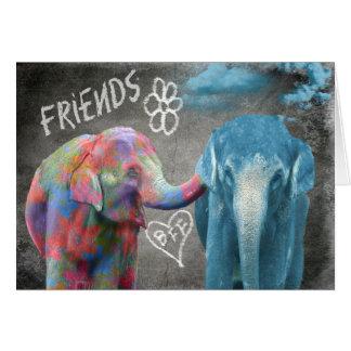 Consolação do elefante BFF Cartão Comemorativo