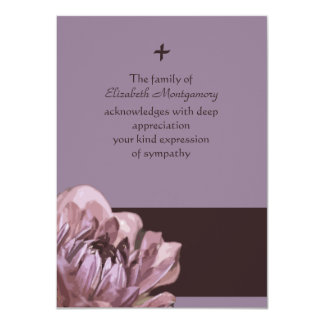 Consolação - obrigado do falecimento você cartão convite 11.30 x 15.87cm