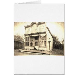 Construção dos bens secos do vintage cartão