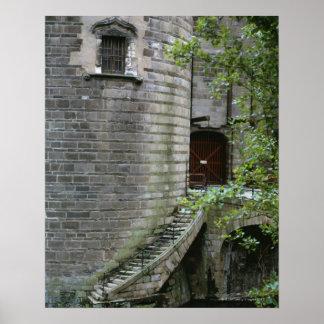 Construção histórica em Brittany, France Impressão