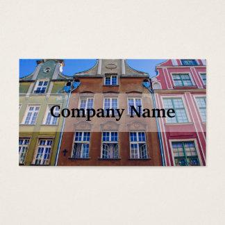 Construções coloridas em Gdansk Danzig, Polônia Cartão De Visitas